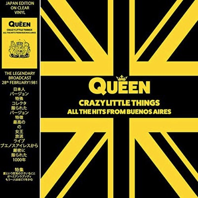 QUEEN – CRAZY LITTLE THINGS – ALL THE HITS FROM BUENOS AIRES – CLEAR VINYL