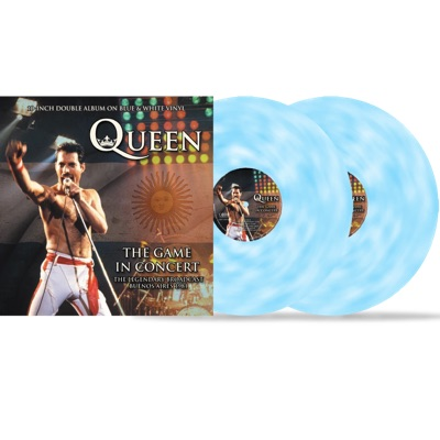QUEEN – THE GAME IN CONCERT (BLUE & WHITE VINYL)